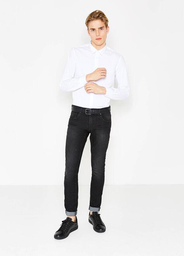Camicia casual slim fit tinta unita | OVS