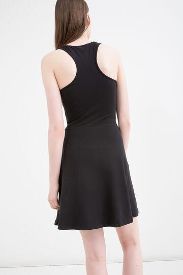 Short sleeveless stretch dress, Black, hi-res