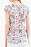 T-shirt in viscose blend with all-over print, Pink, hi-res