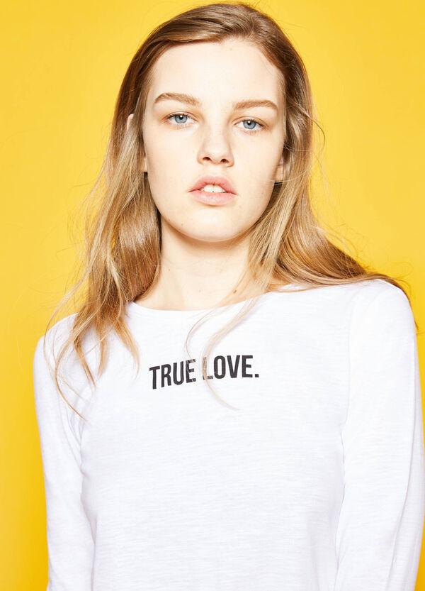 Camiseta de manga larga y con estampado | OVS