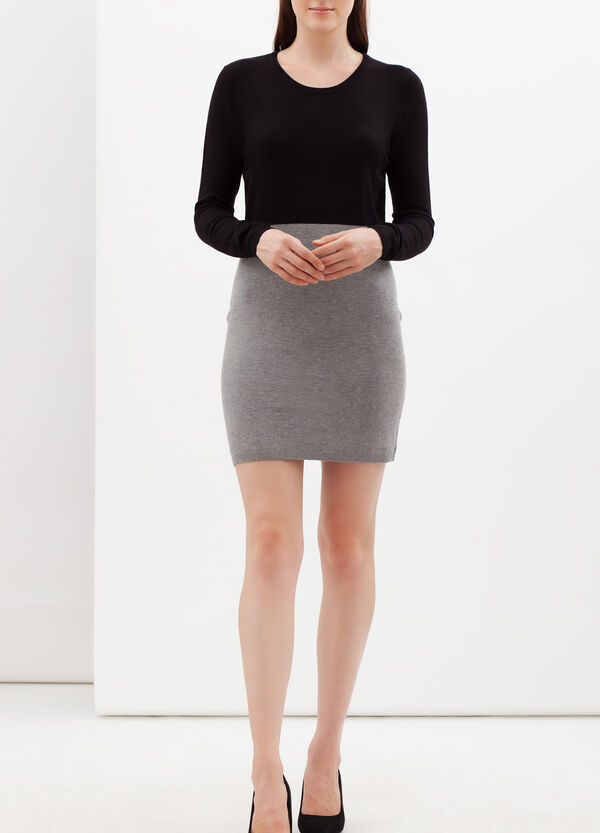 Two-tone short stretch dress | OVS