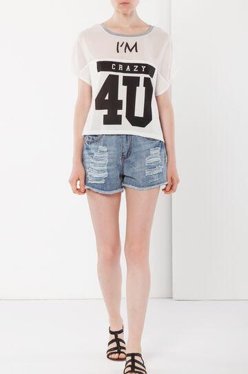 T-shirt con stampa , Bianco, hi-res