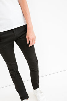 Super skinny fit jeans with zip, Black, hi-res