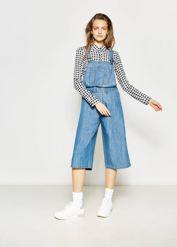 Denim dungarees with zip | OVS