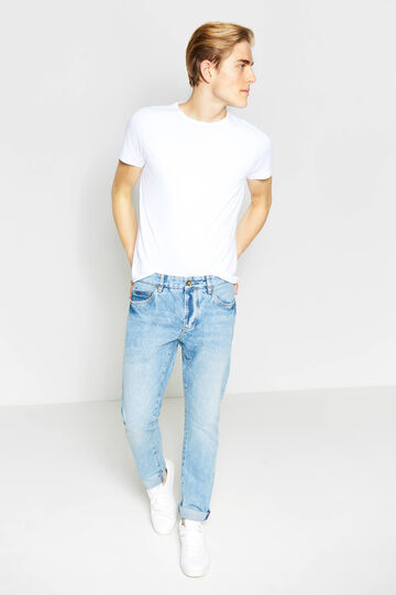 Worn-effect straight-fit jeans, Light Wash, hi-res