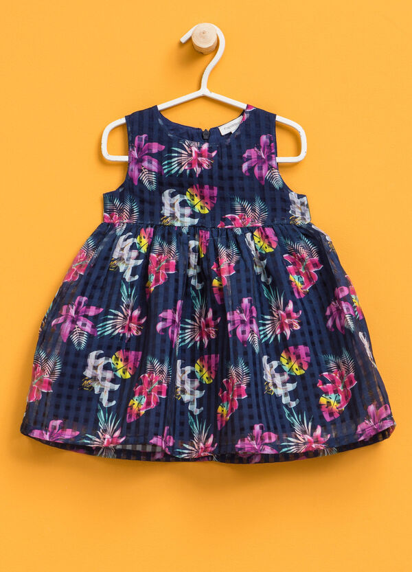 Sleeveless dress with floral pattern | OVS