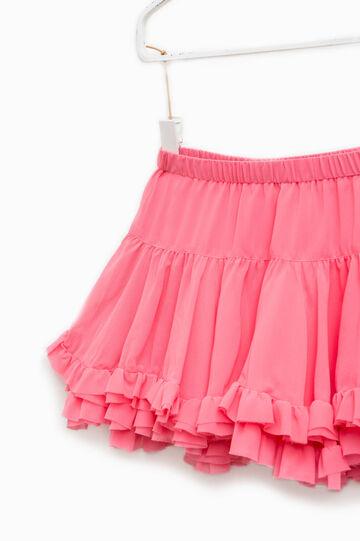Falda de volantes con pliegues decorativos