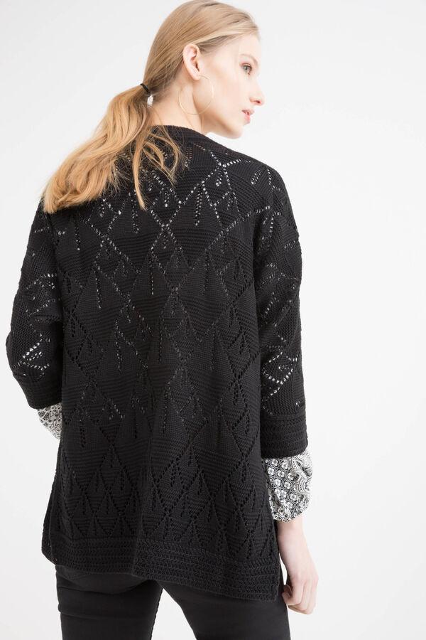 Cardigan traforato tricot | OVS
