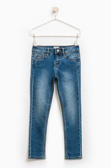 Super skinny-fit jeans with fading, Light Wash, hi-res