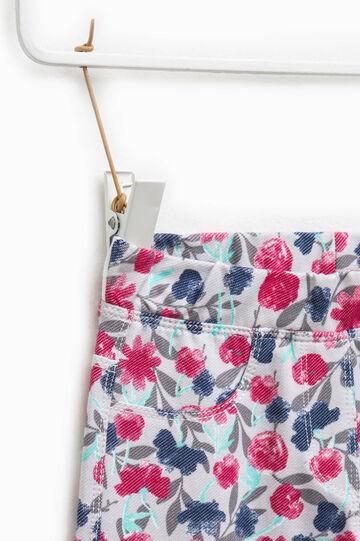 Jeggings elásticos con estampado floral, Gris/Rosa, hi-res