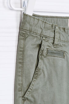Stretch cotton chinos, Green, hi-res