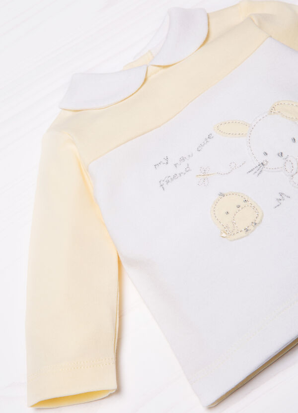 100% cotton embroidered polo shirt | OVS