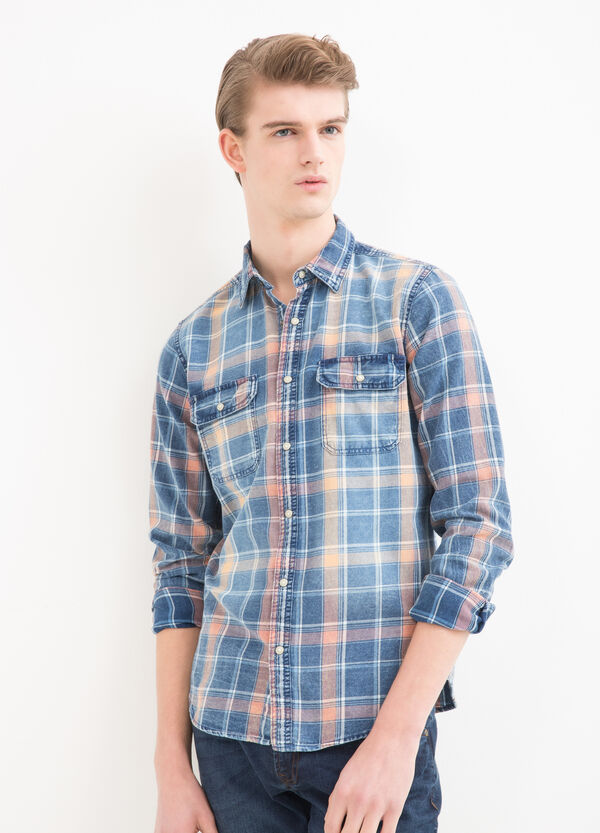Checked cotton shirt | OVS