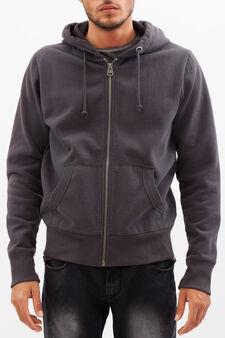 G&H sweatshirt with print on back, Gunmetal, hi-res
