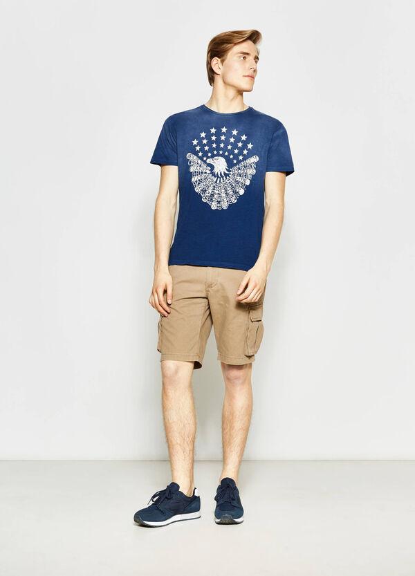 T-shirt effetto delavato stampa G&H | OVS