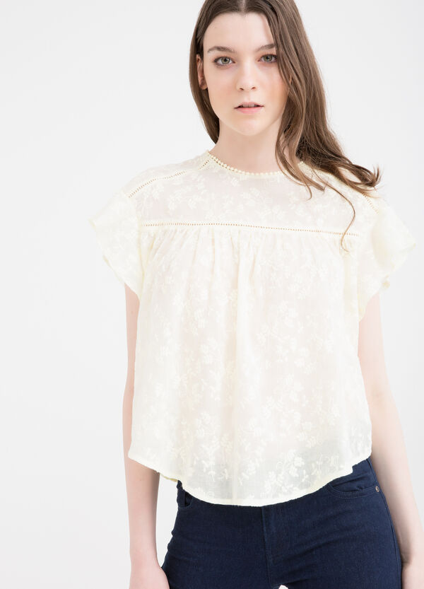 100% cotton blouse with floral pattern | OVS