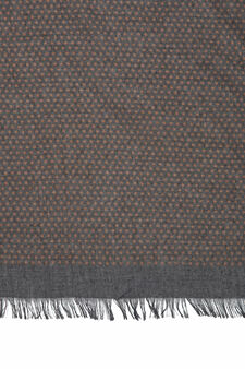 Polka dot viscose blend scarf, Grey, hi-res