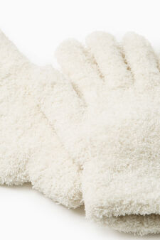 Solid colour cotton gloves, Cream White, hi-res