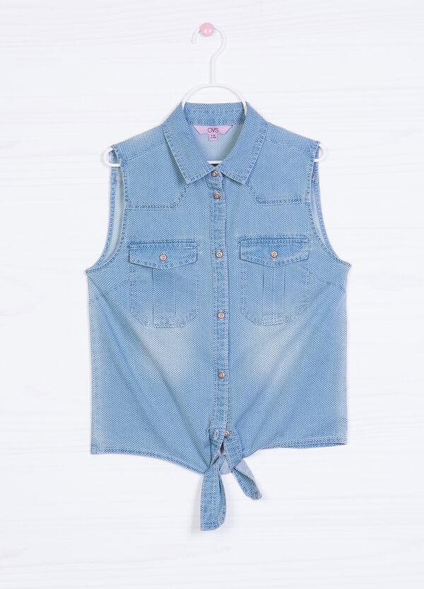 Camicia di jeans smanicata a pois | OVS