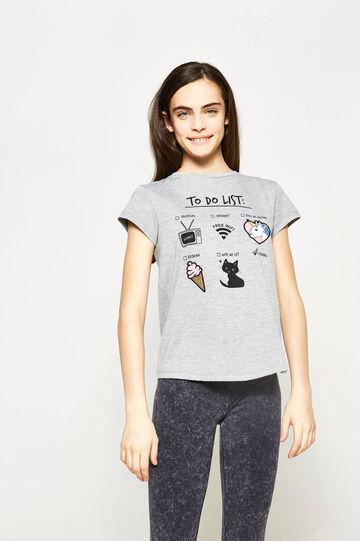 Teen printed stretch T-shirt
