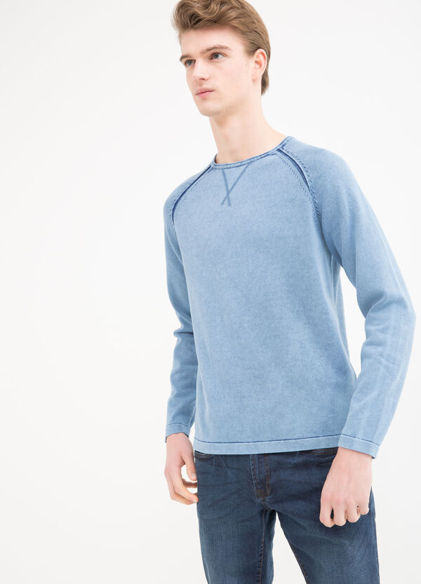 100% cotton crew-neck pullover. | OVS