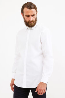 100% cotton formal shirt, regular fit, White, hi-res
