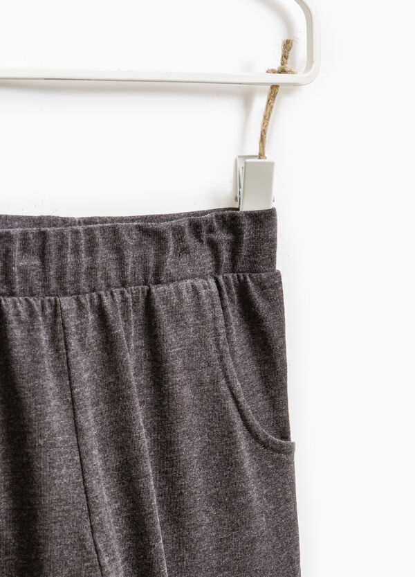 100% cotton joggers with elastic waist band | OVS