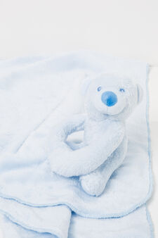 Blanket with stuffed animal, Light Blue, hi-res