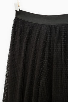 Pleated palazzo trousers, Black, hi-res