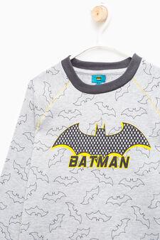 Pigiama puro cotone fantasia Batman, Grigio melange, hi-res