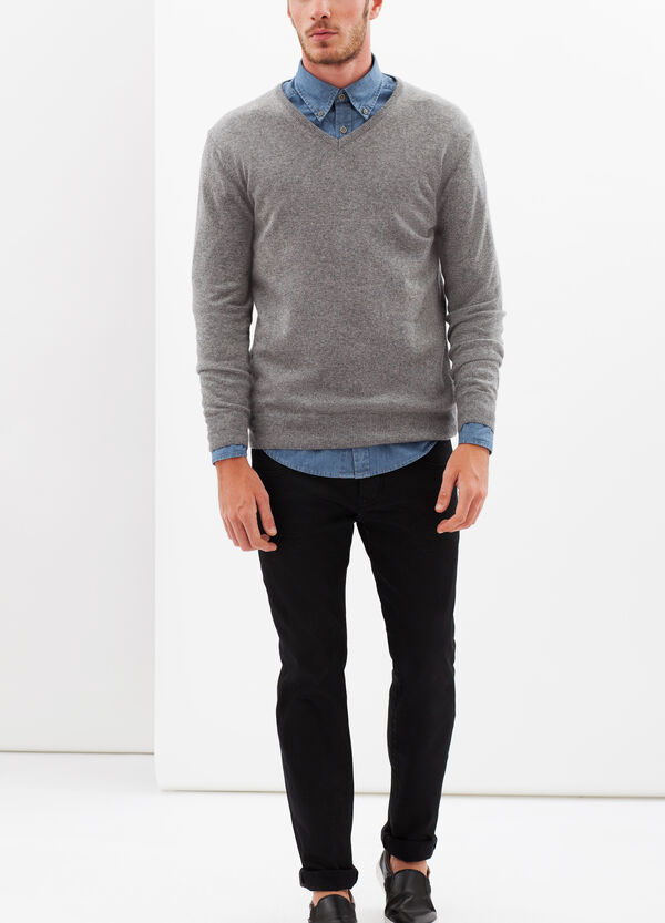 Wool-cashmere blend pullover. | OVS