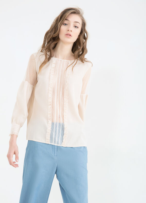 Semi-sheer lace blouse | OVS