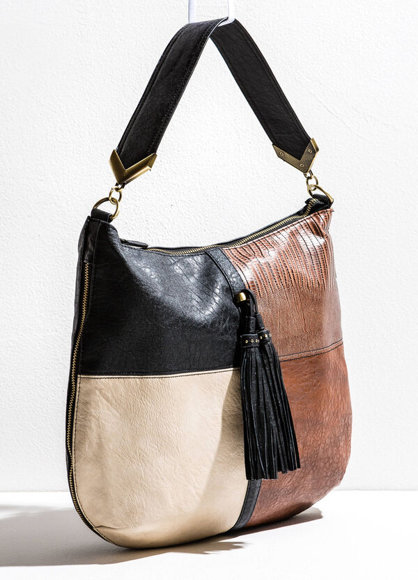 Shoulder bag with zips on the sides | OVS