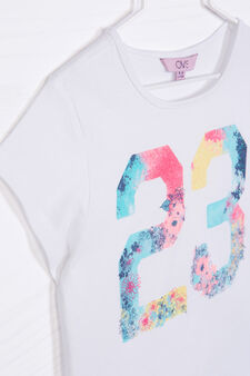 Printed T-shirt in 100% cotton, Off-white, hi-res