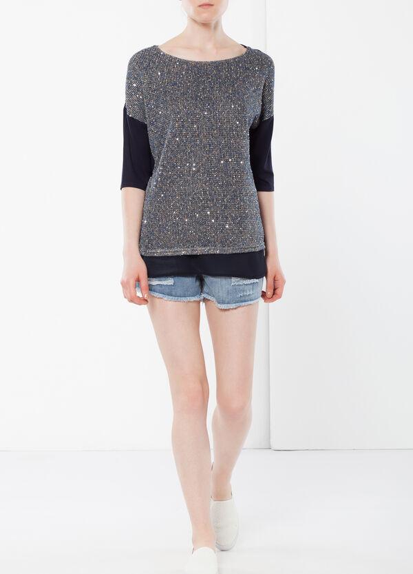 T-shirt tricot con paillettes | OVS
