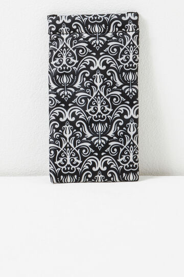 Patterned glasses case, Black/White, hi-res