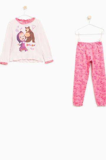Masha and the Bear pyjamas with flounces, Pink, hi-res