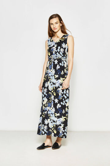 Long printed stretch dress