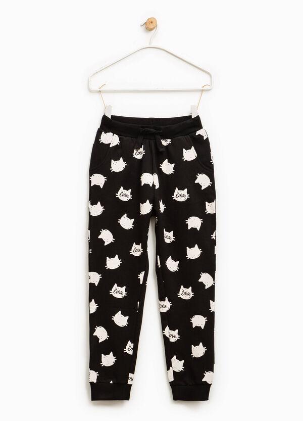 Pantaloni tuta cotone fantasia | OVS