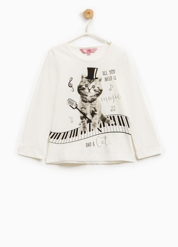T-shirt puro cotone maxi stampa   OVS