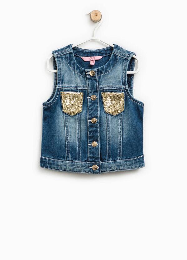 Gilet di jeans con paillettes | OVS