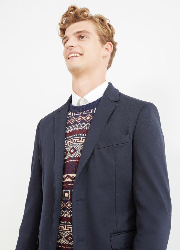 Elegant stretch viscose jacket with lapels | OVS