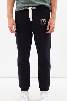 Joggers with drawstring, Dark Blue, hi-res