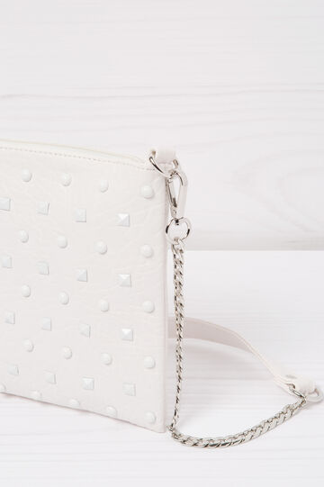Leather look clutch with studs