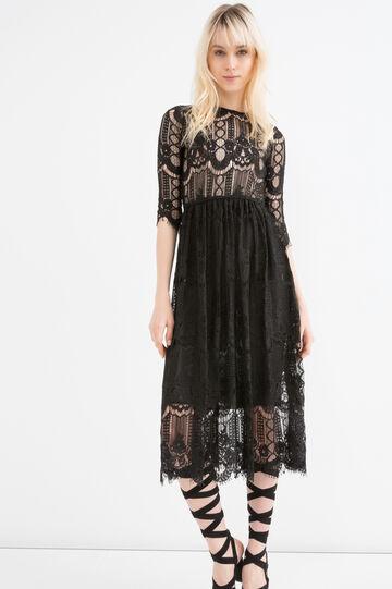 Lace dress, Black, hi-res