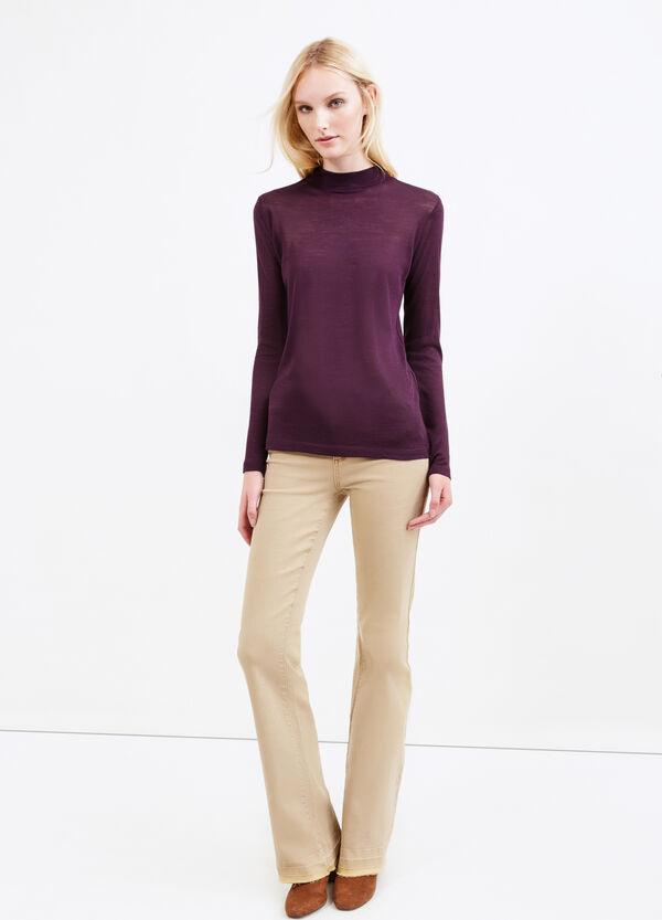 Solid colour wool blend turtleneck jumper | OVS