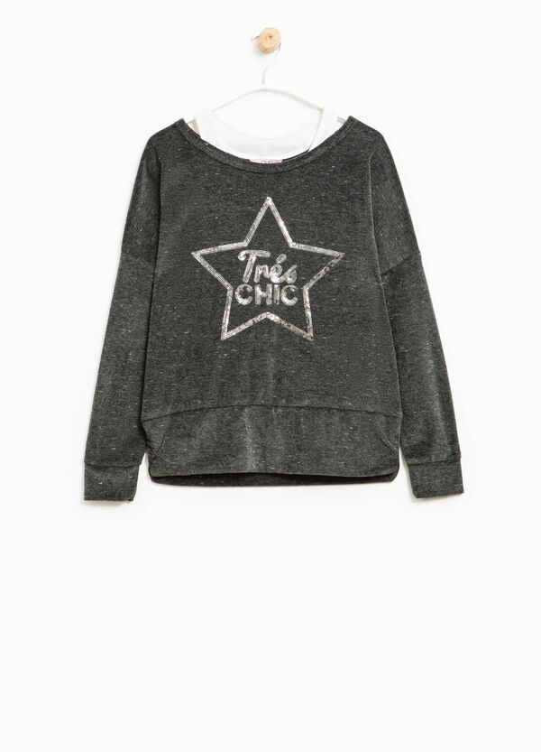 Chenille sweatshirt with sequins | OVS