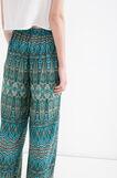 Pantaloni pura viscosa fantasia, Verde, hi-res