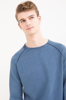100% cotton crew-neck pullover., Cornflower Blue, hi-res