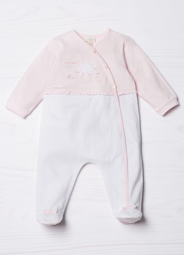Embroidered onesie in 100% cotton | OVS